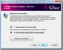 Surface SDK SP1 Wizard 2